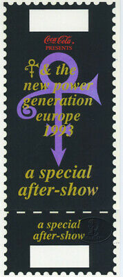 PRINCE 1993 EUROPE Tour Unused Ticket SPECIAL AFTER SHOW
