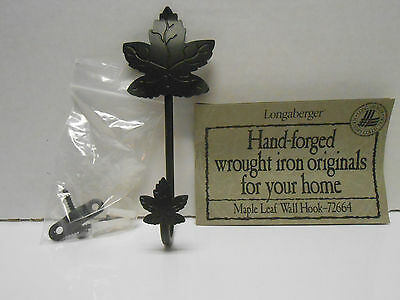 LONGABERGER MAPLE LEAF WALL HOOK w/ HARDWARE, BOX