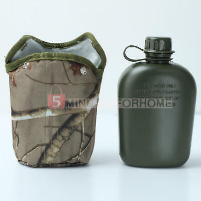 New 1L Army Military Canteen Hydration Water Bottle For Outdoor Camping Hiking