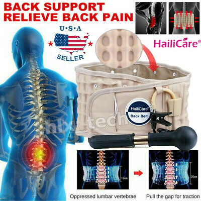 Lower Waist Brace Lumbar Support Wrap Belt Physio Decompression Therapy Device