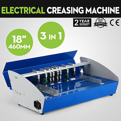 """3in1 18"""" Electric creasing Machine Paper Creasers Cutters Manual Office"""