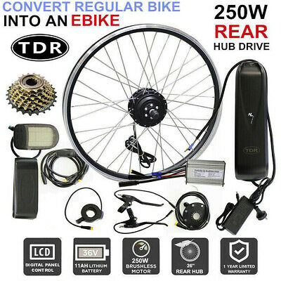 2019 Rear Hub 26'' Wheel Electric Bike Conversion Kit Ebike 36V 350W 10Ah