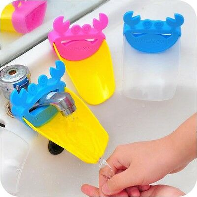 NEW Bathroom Sink Water Faucet Tap Extender For Toddler Kids Baby Hand Washing