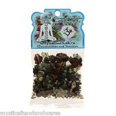Ajna Chakra - Concentration and intuition - Herbal Resin Incense 1.2oz bag