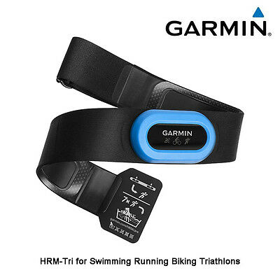 New Garmin HRM-Tri Heart Rate Transmitter & Strap for Swimming Running Cycling