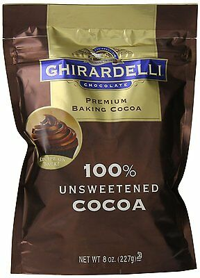 Ghirardelli Chocolate Unsweetened Cocoa Pouch 8 Oz (61703)  AOI XCL