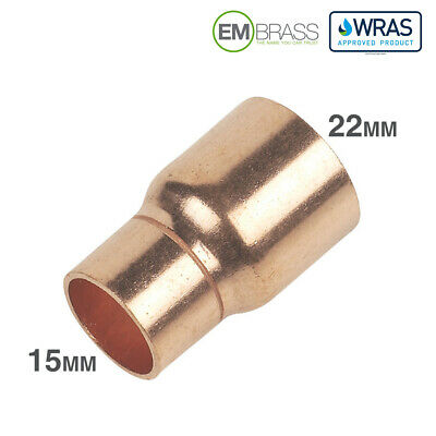 Copper End Feed Fittings - Reducer 15mm To 22mm CE - WRAS - EN1254-1 Approved