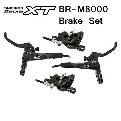 New SHIMANO XT M8000 Hydraulic Disc + Cooling Fins Brake Pads Set Front & Rear