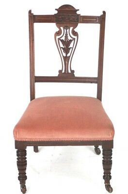 Antique Victorian Carved Mahogany Nursing Chair - FREE Delivery [PL2074]