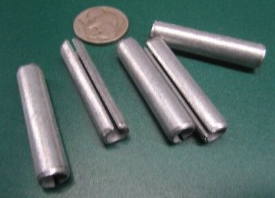 "Zinc Plate Steel Slotted Roll Spring Pin, 5/16"" Dia x 1 1/2"" Length, 50 pcs"