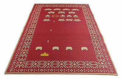 SPACE INVADERS Space Invaders pattern rush mat Red