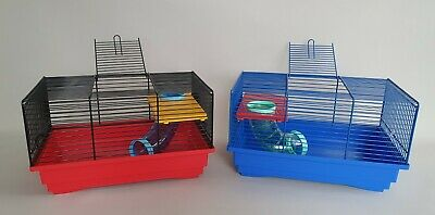Hamster Cage with Tube Platform Small Animals Rat Mouse Transporter