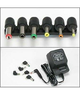 Universal AC/DC Power Adapter Output 3V 4.5V 6V 7.5V 9V 12V 800mA with 6 Plugs