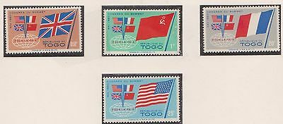 (TOA-5) 1960 Togo 4set  power summit stamps MH