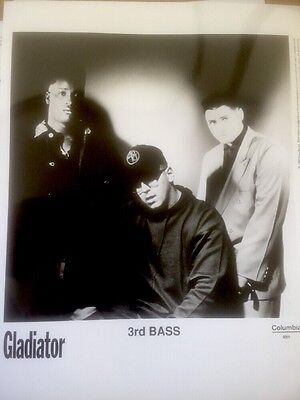 Gladiator 3rd Bass original USA Promo Press kit Photo 8x10 B&W EARLY RAP