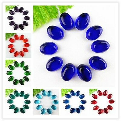 wholesale 10pcs different colors Hydrotherdal Crystal oval CAB cabochon YDSJ1001