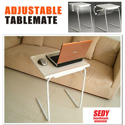 Table Mate XL BIG LARGE Laptop Dinner Tray Adjustable Folding Table Mate TV Card