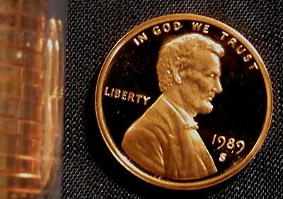 1989-S San Francisco Mint Lincoln Memorial Cent Proof