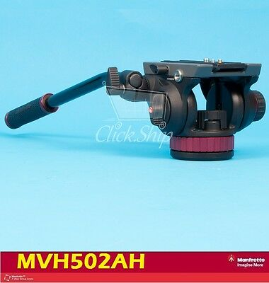 """Manfrotto 502HD Pro Video Head with Flat Base (3/8""""-16 Connection Mfr # MVH502AH"""
