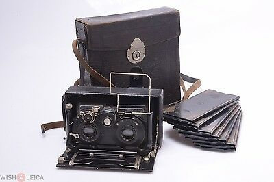 Nice*   Zeiss Ideal 651 Stereo 9Cm 4.5 Ica Dominar Lenses 6X13Cm Camera.