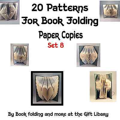 20 Book Folding PATTERNS create your own folded book art SET 8 Paper copies