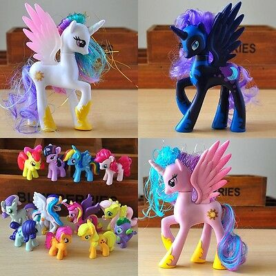14cm Princess Cadance My Little Pony funny Cake Topper Doll Action Figure Toy