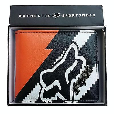 New with Box FOX Men's Surf PU Leather Wallet  VALENTINE Gift #141