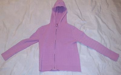 OLD NAVY Girls XS Pink Jacket Cotton Nylon Spandex Coat X-Small Zipper LS Hood