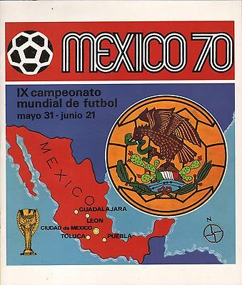 FIFA World Cup Soccer 1970 Mexico PANINI Album reprint