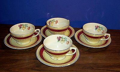 4 Sets Wood & Sons Sherborne Cups And Saucers