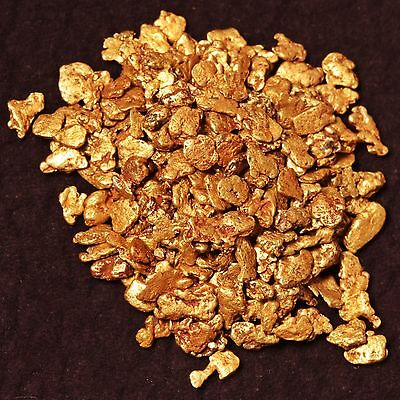 Five (5) Beautiful Gold Nugget Flakes from Alaska bar