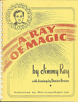 A Ray of Magic by Jimmy Ray 1980 Morrissey Magic Book - Free Shipping