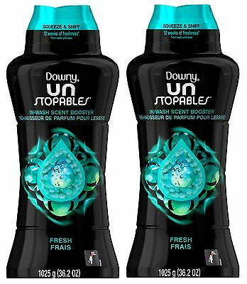 Downy UnStopables In Wash Fresh Scent Booster Unstopable 36.2 Oz Each 2 Packs!