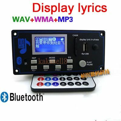 LCD Bluetooth Audio Receiver 12v MP3 Player WMA WAV decoder audio board FM Radio