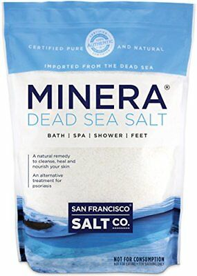 NEW Minera Natural Dead Sea Salt 5lbs Bulk  Fine Grain FREE SHIPPING