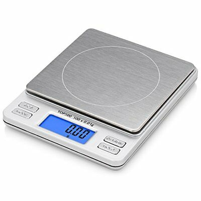 Smart Weigh Digital Pro Pocket Scale Back Lit LCD Tare PCS Features 2 Lids
