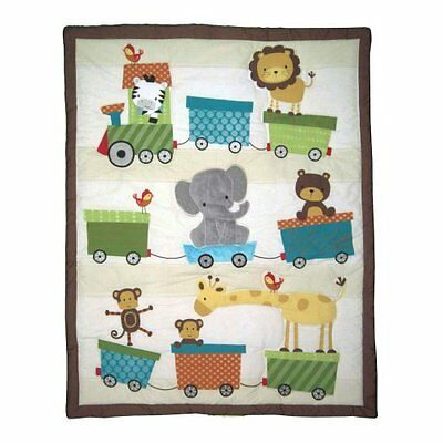 NEW Bedtime Originals 3 Piece Crib Bedding Set Choo Choo FREE SHIPPING