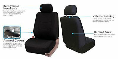 NEW FH FB050114 Universal Flat Cloth Car Seat Covers Black Color FREE SHIPPING