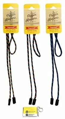 NEW Peeper Keepers Eyeglass Cord Retainer Chain Holder Assortment 3 pack