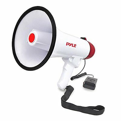 NEW Pyle Pro PMP40 Professional Megaphone Bullhorn with Siren and Handheld Mic