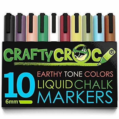 Chalk Markers Artist Quality with Earth Colored Ink for Fall Designs Stencil