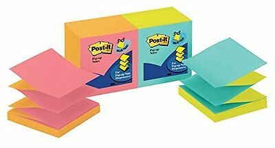Post it Pop up Notes 3 in x 3 in Cape Town Collection 12 Pads Pack R330 N ALT