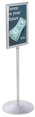 Displays2go Sign Holder Stand Telescoping Post Double Sided Poster Frame 11x17