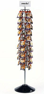 NEW Displays2go 61 Floor Standing Retail Chip Clip Rack Holds 72 Bags CCFR72BK