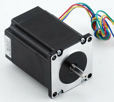 Nema 23 Stepper Motor 285oz-in 2,0Nm 6.35mm Shaft  For CNC Lathe Control Driver