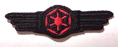 "Star Wars Imperial Cog Wing Logo- 3"" Red & Black  Patch- FREE S&H (SWPA-FC-15)"