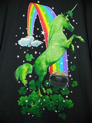 NEW Mens Shirt Patrick Leprechaun / Irish Unicorn Rainbow - 3XL XXXL 54/56 -B11