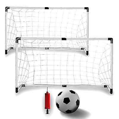K-Roo Sports Youth Soccer Goals with Soccer Ball and Pump (Set of 2)