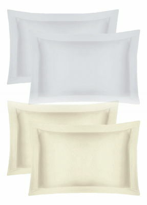 Hotel Quality 400 Thread Pair Oxford Pillow Cases 100% Egyptian Cotton
