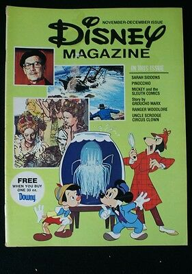 Vintage 1976 November-December Disney Magazine Groucho Marx Proctor Gamble Downy
